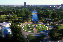 Stock photo of the aerial view of Hermann Park in Houston Texas