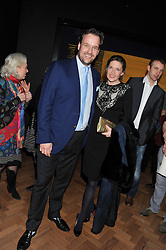SVEN & ZOE LEY at a private view of the V&A's exhibition Golden Spider Silk held at the Victoria & Albert museum, London on 24t January 2012.