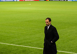 December 4, 2017 - Piraeus, Greece - Massimiliano Allegri  walk around at Karaiskaki stadium on the eve of their UEFA Champions League group D match against Olympiakos Piraeus  (Credit Image: © Dimitris Lampropoulos/NurPhoto via ZUMA Press)