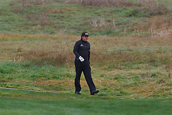 Feb 11, 2012; Pebble Beach CA, USA; Phil Mickelson walks on the third hole during the third round of the AT&T Pebble Beach Pro-Am at Pebble Beach Golf Links. Mandatory Credit: Jason O. Watson-US PRESSWIRE