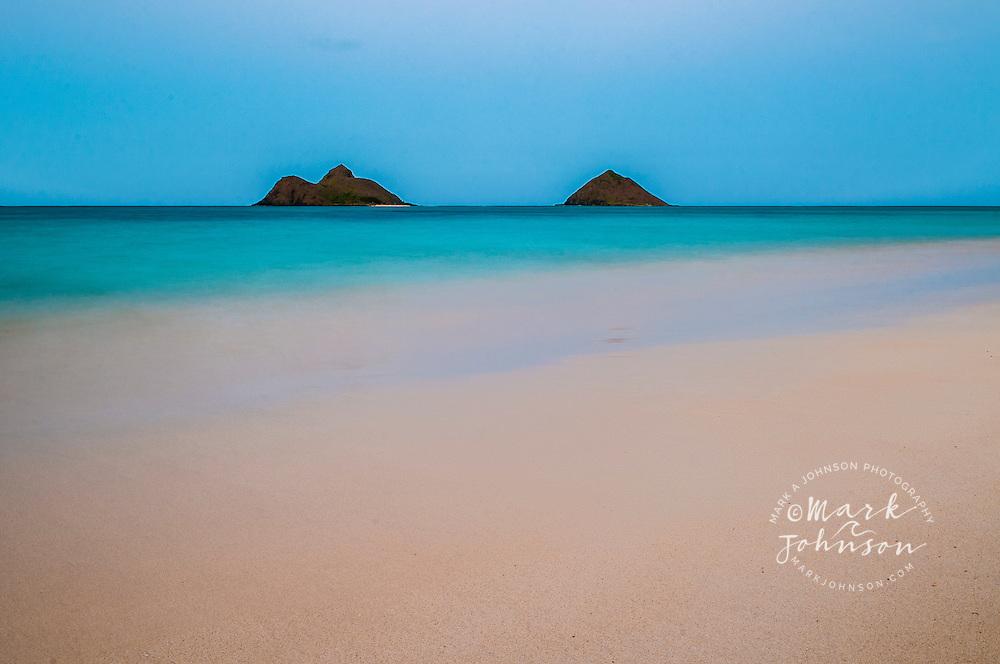Mokulua Islands, Lanikai Beach, Kailua Bay, Oahu, Hawaii