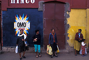 Hand painted mural advertising Omo washing powder, Anatananarivo