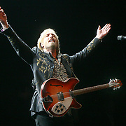 Tom Petty thanks the crowd during Tom Petty & the Heartbreakers first night of a 2 night stand at The Gorge Amphitheater on June 11, 2010.