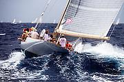 Wild Horses sailing in the Antigua Classic Yacht Regatta, Cannon Race.