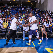 Former Tatnall, University of Delaware and current Professional Basketball player Jawan Carter participates in The 2015 Duffy's Hope Celebrity Basketball Game Saturday, August 01, 2015, at The Bob Carpenter Sports Convocation Center, in Newark, DEL.    <br /> <br /> Proceeds will benefit The Non-Profit Organization Duffy's Hope Youth Programming.