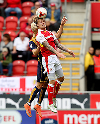 Hordor Magnusson of Bristol City clashes heads with Rotherham United's Danny Ward - Mandatory by-line: Matt McNulty/JMP - 10/09/2016 - FOOTBALL - Aesseal New York Stadium - Rotherham, England - Rotherham United v Bristol City - Sky Bet Championship