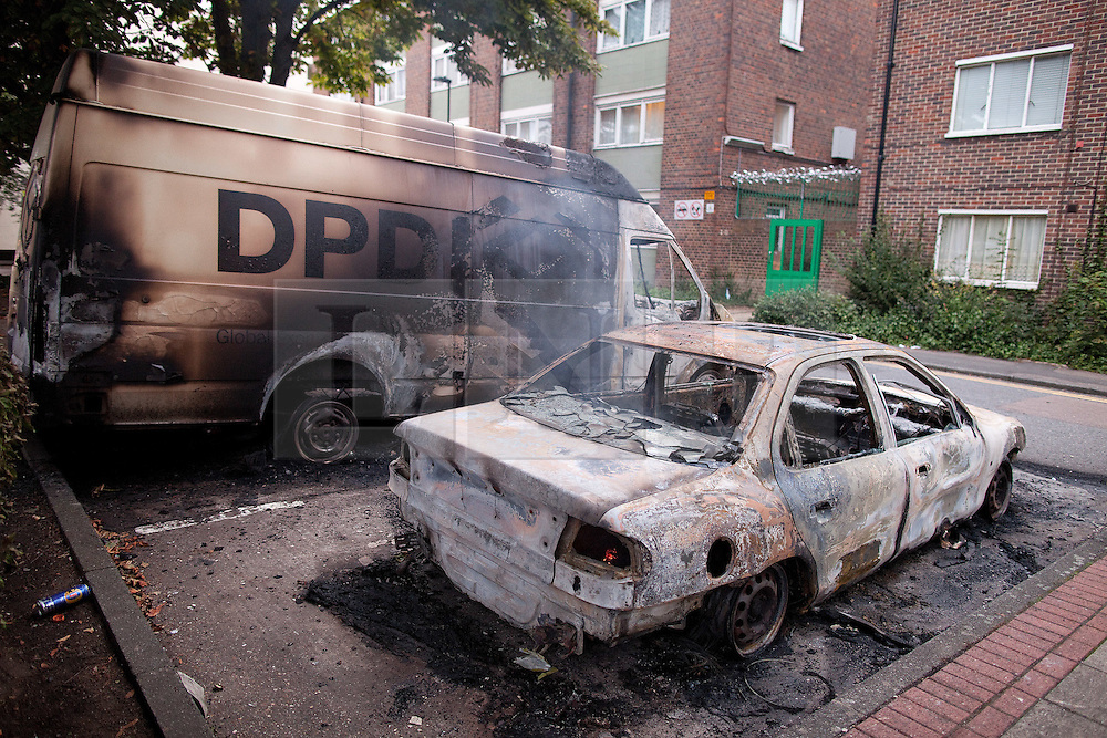 © Licensed to London News Pictures. 07/08/2011. Tottenham, UK. Mass rioting and vandalism broke out along Tottenham High Street and many building were set alight. Photo credit : Joel Goodman/LNP