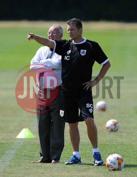 Bristol City manager, Steve Cotterill - Photo mandatory by-line: Dan Rowley/JMP - Tel: Mobile: 07966 386802 02/07/2014 - SPORT - FOOTBALL - Bristol -  Bristol City Training