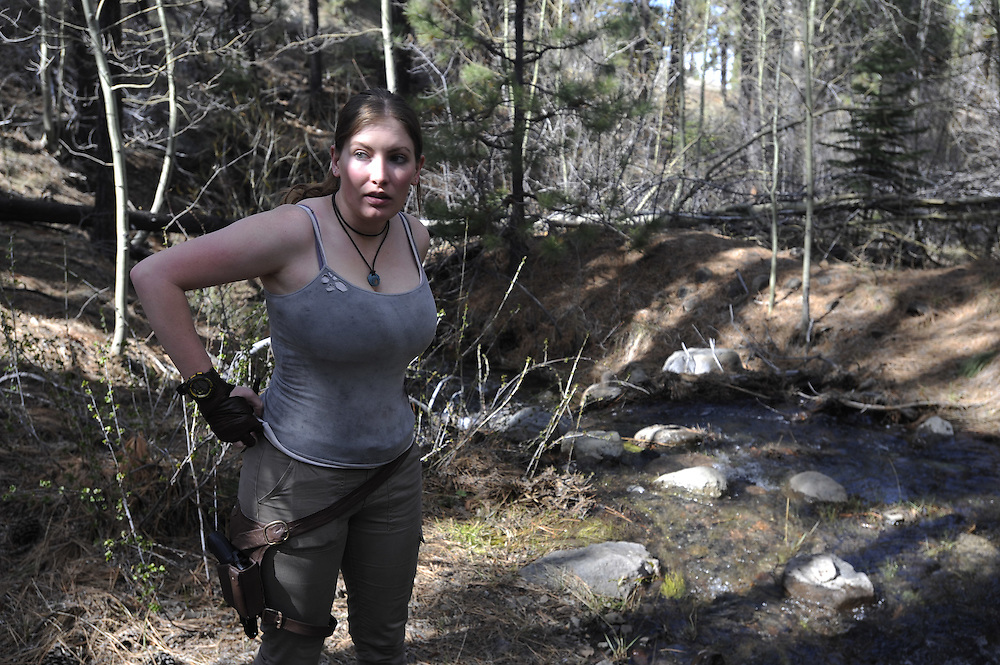 Alyssa Frampton cosplays as Lara Croft in Cold Springs, Nev. on Sunday, April 3, 2016. <br /> Photo by Kevin Clifford