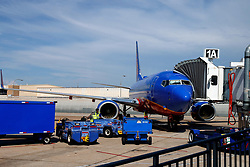 Southwest Airlines Boeing 737 at Gate 1A, San Diego International Airport (KSAN), San Diego, California, United States of America