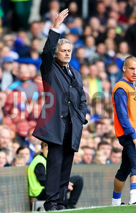 Chelsea Manager, Jose Mourinho looks dejected  - Mandatory byline: Matt McNulty/JMP - 07966386802 - 12/09/2015 - FOOTBALL - Goodison Park -Everton,England - Everton v Chelsea - Barclays Premier League