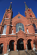 Built between 1903 and 1908, at a cost of $100,000, this beautiful structure started out as St. Joseph's Catholic Church, which served the Slovenian Catholic congregation of Calumet. As the population of Calumet collapsed, four Catholic congregations consolidated into one, making this building their church, and renaming it St. Paul the Apostle Church.
