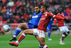 Bobby Reid of Bristol City competes with Cameron Carter-Vickers of Ipswich Town - Mandatory by-line: Nizaam Jones/JMP - 17/03/2018 - FOOTBALL - Ashton Gate Stadium- Bristol, England - Bristol City v Ipswich Town - Sky Bet Championship
