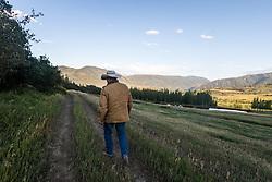 Cowboy Jim Snyder looks for elk.
