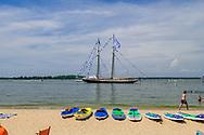 Sailing Boat, Crescent Beach aka Sunset Beach, Shelter Island, NY