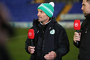 Miles Rutherford speaks on BT Sport after the The FA Cup match between Tranmere Rovers and Chichester City at Prenton Park, Birkenhead, England on 1 December 2019.
