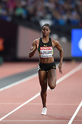 August 8, 2017 - London, England, United Kingdom - Jodean WILLIAMS, Jamaica,  during 200 meter  heats in London at the 2017 IAAF World Championships athletics on August 8, 2017. (Credit Image: © Ulrik Pedersen/NurPhoto via ZUMA Press)
