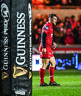 Scarlets' Ryan Conbeer in action <br /> <br /> Photographer Craig Thomas/Replay Images<br /> <br /> Guinness PRO14 Round 17 - Scarlets v Leinster - Friday 9th March 2018 - Parc Y Scarlets - Llanelli<br /> <br /> World Copyright © Replay Images . All rights reserved. info@replayimages.co.uk - http://replayimages.co.uk