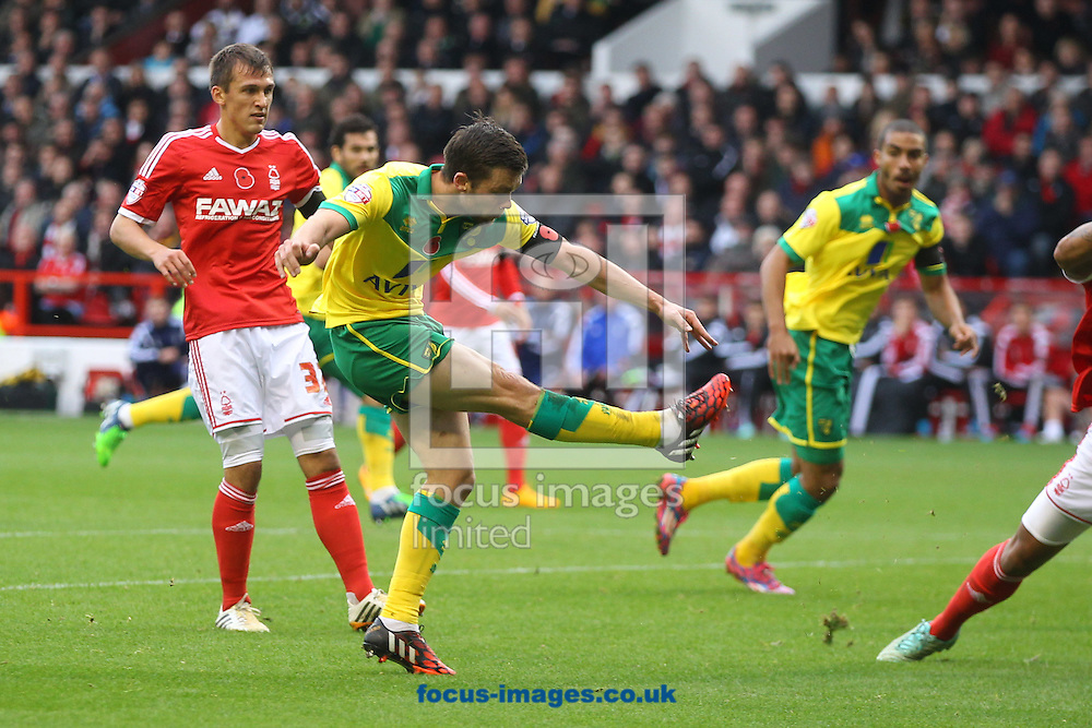 Jonny Howson of Norwich scores his sides 1st goal and celebrates during the Sky Bet Championship match at the City Ground, Nottingham<br /> Picture by Paul Chesterton/Focus Images Ltd +44 7904 640267<br /> 08/11/2014