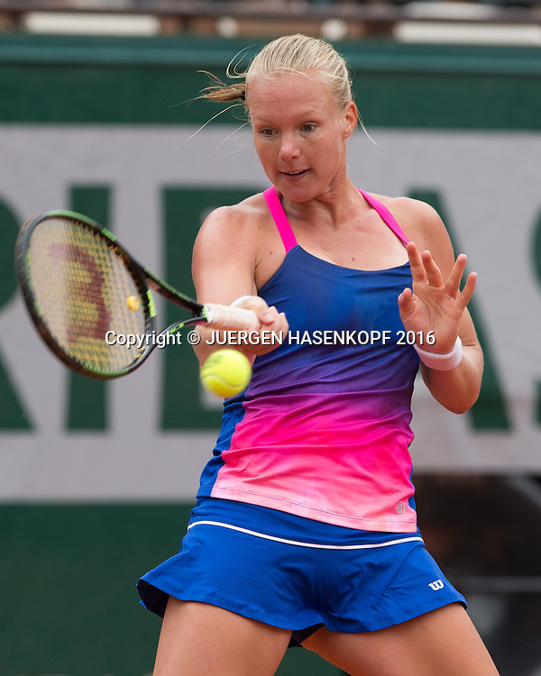 Kiki Bertens (NED)<br /> <br /> Tennis - French Open 2016 - Grand Slam ITF / ATP / WTA -  Roland Garros - Paris -  - France  - 24 May 2016.