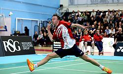 Ben Lane of Bristol Jets in action - Photo mandatory by-line: Robbie Stephenson/JMP - 06/02/2017 - BADMINTON - SGS Wise Arena - Bristol, England - Bristol Jets v Surrey Smashers - AJ Bell National Badminton League