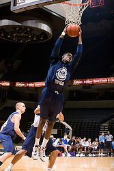 PF Rakeem Buckles (Opa Locka, FL / Monsignor Edward Pace) grabs a rebound.  The NBA Player's Association held their annual Top 100 basketball camp at the John Paul Jones Arena on the Grounds of the University of Virginia in Charlottesville, VA on June 20, 2008