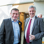 24.03.2017            <br /> Limerick Civic Trust, Marjorie Daly commissioned Jim Kemmy Portrait unveiling by Jan O'Sullivan TD at the Kemmy Business School, University of Limerick. <br /> <br /> Pictured at the event were, Alan Kelly TD and Dr. Philip O'Regan, Dean of Kemmy Business School, UL. Picture: Alan Place