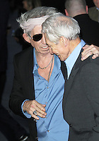 LONDON - OCTOBER 18: Charlie Watts; Keith Richards attended the screening of 'Crossfire Hurricane' at the Odeon, Leicester Square, London, UK. October 18, 2012. (Photo by Richard Goldschmidt)