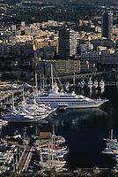 2000, Monte-Carlo, Monaco --- Boats Docked in a Marina --- Image by © Owen Franken/CORBIS