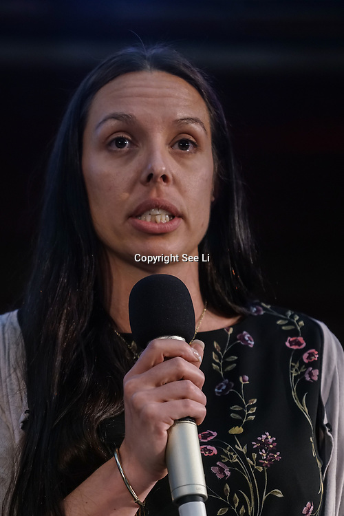 London, UK, 24th October 2017. Speaker Louise Atkinson is a Teacher from Cumbria at the Rally Against School Cuts with over 1,000 parents and school staff lobbying more than two-thirds of the MPs in England and Wales at Emmanuel Centre.