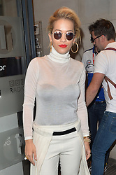 Singer Rita Ora arriving for The One Show at the BBC studios in central London, UK. 14/05/2014<br />BYLINE MUST READ : GOTCHAIMAGES.COM<br /><br />Copyright by © Gotcha Images Ltd. All rights reserved.<br />Usage of this image is conditional upon the acceptance <br />of Gotcha Images Ltd, terms and conditions available at<br />www.gotchaimages.com