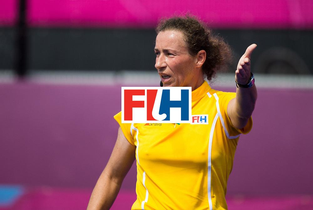 London Olympics 08/08/2012.Womens Hockey Korea v germany.Umpire Claire Adenot..Photo: Grant Treeby