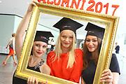 Ludwigshafen. 14.07.17 | Studienabschlussfeier <br /> Pfalzbau. Studienabschlussfeier der Hochschule Ludwigshafen am Rhein.<br /> - Absolventinnen. v.l. Miriam Hartmann, Margarita Decker, Zeinab Salman<br /> <br /> BILD- ID 0061 |<br /> Bild: Markus Prosswitz 14JUL17 / masterpress (Bild ist honorarpflichtig - No Model Release!)