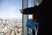 View from Mori Tower in Roppongi Hills looking toward Tokyo Tower