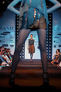 A model presents a creation by Rohit Gandhi and Rahul Khanna during the Lakme India Fashion Show in New Delhi, India, Thursday, April 21, 2005. (AP Photo/Sebastian John)