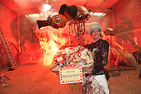 Artistic Director of Macnas, Noeline Kavanagh during a photocall to announce a Macnas is hosted  magical, behind-the-scenes event on Thursday May 17th  at 6.30pm to celebrate the launch of the ?Friends of Macnas?. Like Willy Wonka opening up his Chocolate Factory, Macnas are opening  their Liosbán Workshop where the magic happens to give guests an unique encounter with the company?s iconic images. More info on www.macnas.com .. Photo:Andrew Downes .Special guest speaker on the night is Limerick-born writer Kevin Barry, author of the wildly inventive novel City of Bohane . In 2007, Kevin?s collection of short stories, There are Little Kingdoms (The Stinging Fly Press, Dublin, 2007), won The Rooney Prize for Irish Literature. In 2011 his novel, The City of Bohane (Jonathan Cape, London, 2011), was nominated in the Best First Novel category in the Costa (formerly the Whitbread) Book Awards. Macnas is delighted to welcome Kevin to their home for this very special and unique Macnas-style evening.