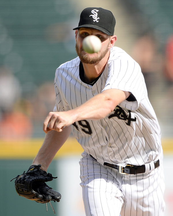 CHICAGO - SEPTEMBER 05:  Chris Sale #49 of the Chicago White Sox pitches against the Detroit Tigers on September 5, 2016 at U.S. Cellular Field in Chicago, Illinois.  The Tigers defeated the White Sox 5-3. (Photo by Ron Vesely)   Subject:   Chris Sale