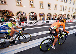 Urska Zigart of Slovenia and Janneke Ensing of Netherlands in Innsbruck's centre during the Women's Elite Road Race a 156.2km race from Kufstein to Innsbruck 582m at the 91st UCI Road World Championships 2018 / RR / RWC / on September 29, 2018 in Innsbruck, Austria. Photo by Vid Ponikvar / Sportida
