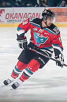 KELOWNA, CANADA - NOVEMBER 1:  Dylen McKinlay #19 of the Kelowna Rockets skates on the ice against the Kamloops Blazers at the Kelowna Rockets on November 1, 2012 at Prospera Place in Kelowna, British Columbia, Canada (Photo by Marissa Baecker/Shoot the Breeze) *** Local Caption ***