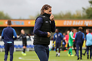Wycombe Wanderers manager Gareth Ainsworth walking off pitch zipping up body warmer during the EFL Sky Bet League 1 match between AFC Wimbledon and Wycombe Wanderers at the Cherry Red Records Stadium, Kingston, England on 31 August 2019.