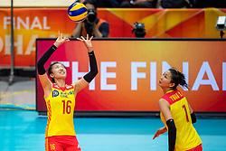 19-10-2018 JPN: Semi Final World Championship Volleyball Women day 18, Yokohama<br /> China - Italy / Xia Ding #16 of China, Luyao Xu #7 of China