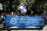 Frankfurt am Main | 17 July 2014<br /> <br /> Solidarit&auml;tsdemo f&uuml;r Israel, f&uuml;r Frieden und f&uuml;r das Ende der Angriffe der Hamas auf dem Opernplatz vor der Alten Oper in Frankfurt am Main, hier: Transparent &quot;Fight Antisemitism - Support Israel&quot;. <br /> <br /> &copy; peter-juelich.com