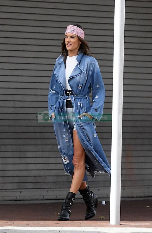 Brazilian supermodel Alessandra Ambrosio shows off her legs in unusual jean briefs for Elle Italy photoshoot in Little Havana, Florida. 23 Jan 2019 Pictured: Alessandra Ambrosio. Photo credit: MEGA TheMegaAgency.com +1 888 505 6342