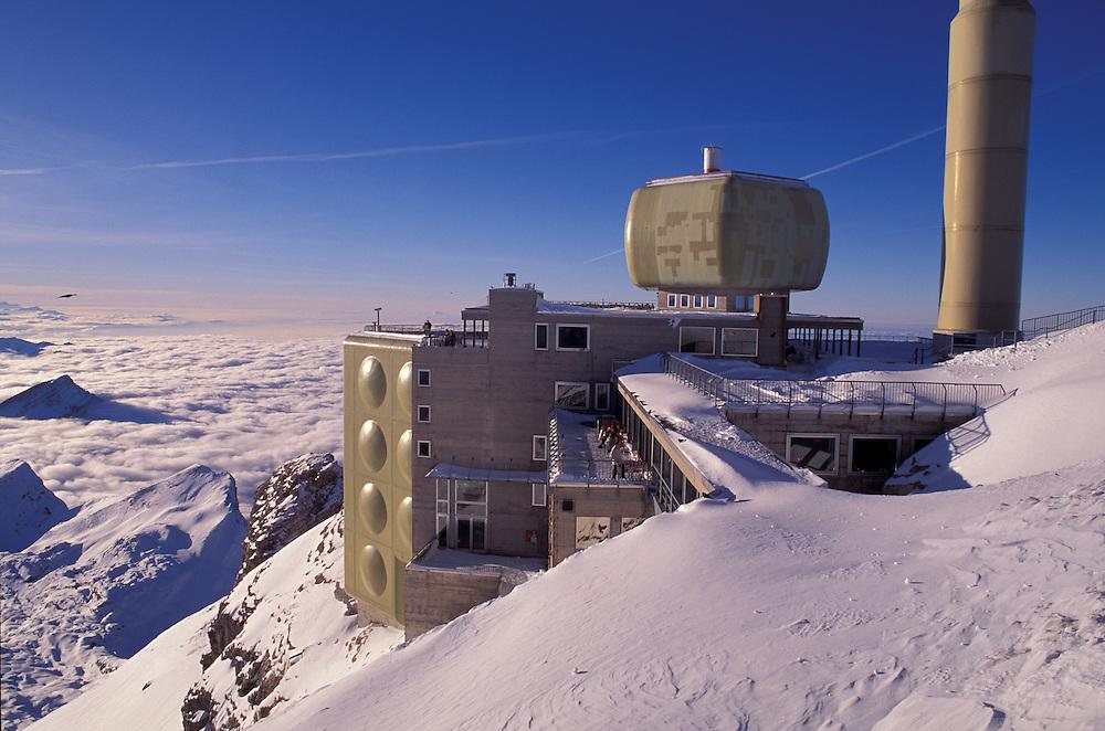 Mount Saentis Station, Swiss Alps, Appenzell Canton, Switzerland