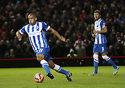 Brighton's Chris O'Grady during the The FA Cup match between Brighton and Hove Albion and Arsenal at the American Express Community Stadium, Brighton and Hove, England on 25 January 2015. Photo by Phil Duncan.