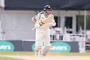 Yorkshire Batsman Joe Root  sets off for a run during the Specsavers County Champ Div 1 match between Yorkshire County Cricket Club and Surrey County Cricket Club at Headingley Stadium, Headingley, United Kingdom on 10 May 2016. Photo by Simon Davies.