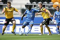 Adeccoligaen 2012.<br /> 28.05.2012<br /> Start v Bodø Glimt, Sør Arena, Kristiansand, Norge.<br /> <br /> Foto. Simon Rogers, Digital Sport.<br /> <br /> Start. Glenn Brevik Andersen.<br /> Bodø Glimt. Papa Alioune Ndiaye
