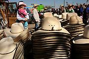 Crowds line the streets at the Fiesta de Los Vaqueros, an annual rodeo in Tucson, Arizona, USA.