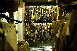 UK ENGLAND LONDON 30JAN09 - Patterns archive in the basement at The Huntsman tailors in Saville Row, central London. Established in 1849, the Huntsman has been located at the legentary Saville Row since 1919...jre/Photo by Jiri Rezac..© Jiri Rezac 2009