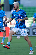 MELBOURNE, VICTORIA - JANUARY 06: Melbourne City midfielder Luke Brattan (26) warms up at the Hyundai A-League Round 11 soccer match between Melbourne City FC and Newcastle Jets on at AAMI Park in NSW, Australia 06 January 2019. (Photo by Speed Media/Icon Sportswire)